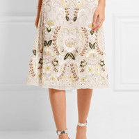Needle & Thread - Embelllished georgette skirt
