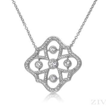 Ziva Art Deco Diamond Necklace