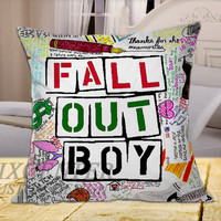 Fall Out Boy  on Square Pillow Cover