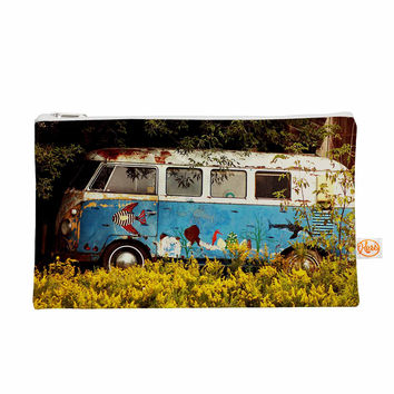 """Angie Turner """"Hippie Bus"""" Blue Yellow Everything Bag"""