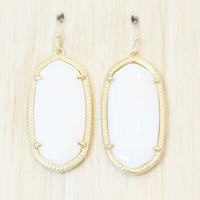 Kendra Scott Elle Earrings - WHITE Mother of Pearl