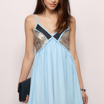 Leila Sequin Shift Dress