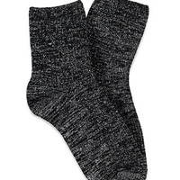 Metallic Knit Crew Socks
