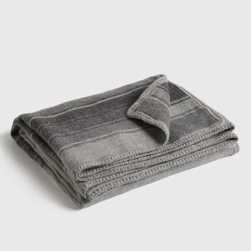 Crocheted Edge Alpaca Throw - Grey