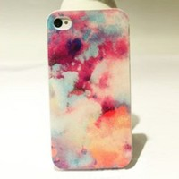 Abstract Colourful Shading Hard Cover Case For Iphone 4/4s