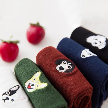 Pug, Husky, Dulldog Pattern Socks Funny Crazy Cool Novelty Cute Fun Funky Colorful
