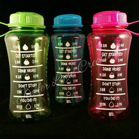 28.5 Ounce Plastic Water Bottle with Screw Top - Keep Track of Your Daily Water Intake