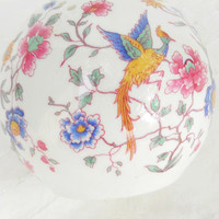 Vintage Hammersley Bird of Paradise Pomander Ball, Cottage Style, Room Fragrancer, Fine Bone China