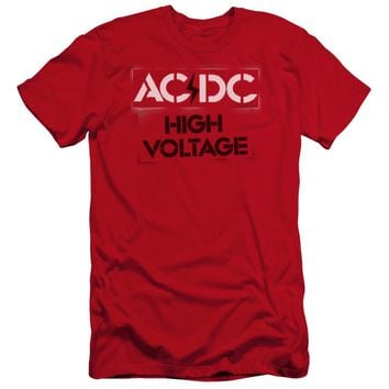 Acdc - High Voltage Stencil Premuim Canvas Adult Slim Fit 30/1