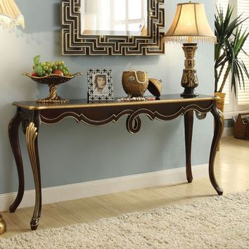 Acme 97229 Shiloh bronze finish wood hall console entry table