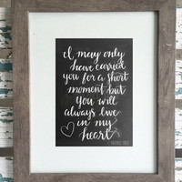 Miscarriage Quote - Chalkboard Print