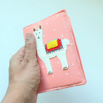 Llama Passport Cover for Kids // Llama Gifts for Babies Passport Holder // Llama Gifts for Teachers - SKPC66