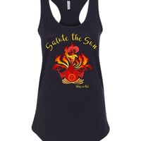 Salute the Sun Rooster Yoga Tank 2017 Year of Rooster