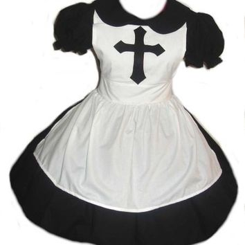 Cute Nun Dress and Apron Costume