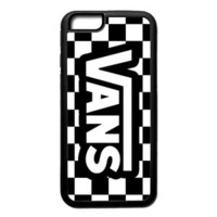 Special Luxury Vans Logo Chess Pattern Fit Hard Case for iPhone 6 6s 7+ 8+ Cover