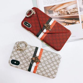 Gucci Fashion Print Bee iPhone Phone Cover Case For iphone 8 8plus iPhone6 6s 6plus 6s-plus iPhone 7 7plus