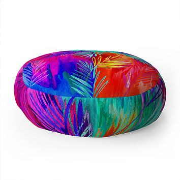 Holly Sharpe Tropical Heat 01 Floor Pillow Round