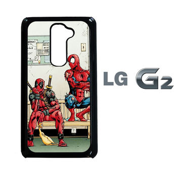 Funny Spiderman and Deadpool LG G2 Case