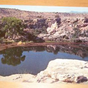 Vintage Montezuma Well Camp Verde Arizona Postcard