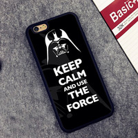 Star War Keep Calm And Use The Force Soft Rubber Mobile Phone Case For iPhone 6 6S Plus 7 7Plus 5 5S 5C SE 4 4S Back Cover Shell