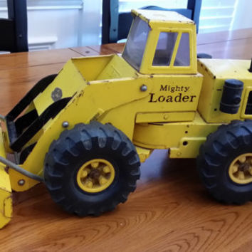 Vintage Mighty Loader Tonka Truck Front End Loader Pusher Pressed Metal Great Nostalgic Nursery Children's Room Man Cave Decor