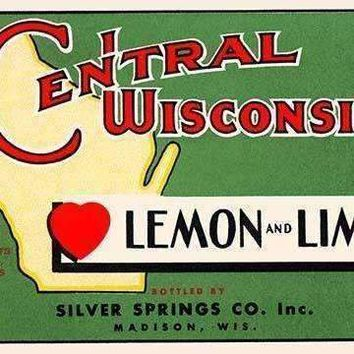 Central Wisconsin Lemon and Lime (Framed Poster)