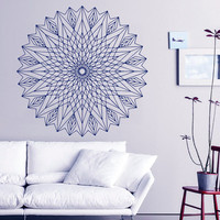 Mandala Wall Decal Lotus Stickers Vinyl Decals Ethnic Art Murals Home Decor Interior Design Dorm Sticker Bohemian Bedding Decor KY113