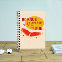 Bastille Lyric Icarus Photo Notebook Auroid