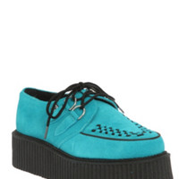 T.U.K. Turquoise Suede Mondo Creepers