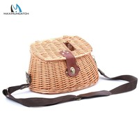 Maximumcatch Chinese-Style Classical Wicker Trout Fishing Creel Vintage Fishing Bag Willow Fishing Basket