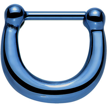 "16 Gauge 5/16"" Blue IP Stainless Steel Bold Septum Clicker"