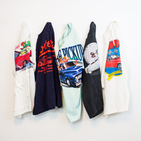 Mystery (AUTOMOBILES) Vintage Graphic Oversized T Shirts