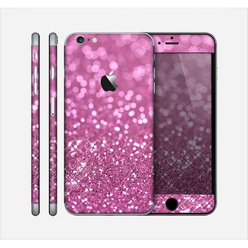 The Pink Unfocused Glimmer Skin for the Apple iPhone 6 Plus