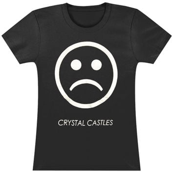 Crystal Castles  Tour Girl's Sad Face On Black Girls Jr Black Rockabilia