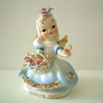 Vintage Lefton Friday's Child Figurine
