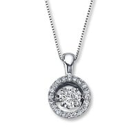 Diamonds in Rhythm 1/5 ct tw Necklace Sterling Silver