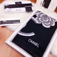 CHANEL  Women Smooth Cashmere Warm Winter Cape Scarf Scarves