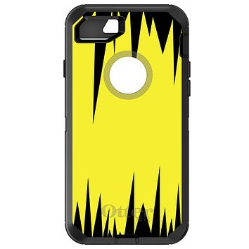 DistinctInk™ OtterBox Defender Series Case for Apple iPhone / Samsung Galaxy / Google Pixel - Yellow Black Spikes