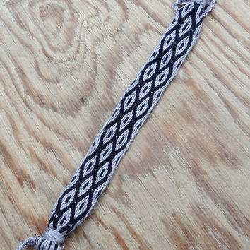 woven bracelet, weaving colorful cotton braclet, hand weave gray black wrist band, men arm band, women bracelet, yarn jewelry in handmade