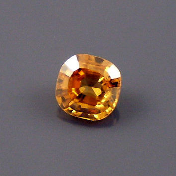 Zircon: 1.11ct Golden Cushion Shape Gemstone, Natural Hand Made Faceted Gem, Loose Precious Mineral, OOAK Cut Crystal Jewelry Supply 20327