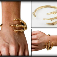 DRAGON CLAW BRACELET inspired by Game of Thrones, Claw Bracelet, Gold bracelet, Talon Bracelet, Unique Jewelry for men & women
