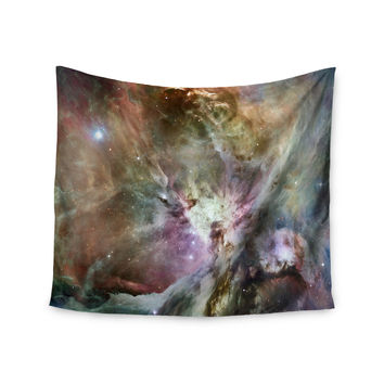 "Suzanne Carter ""Orion Nebula"" Celestial Gray Wall Tapestry"