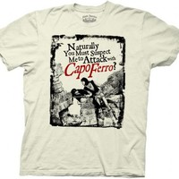 The Princess Bride Capo Ferro White Adult T-shirt  - The Princess Bride - | TV Store Online