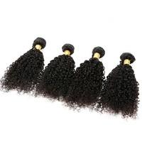 7A Grade Malaysian Virgin Hair Kinky Curly 4 Bundles Curly Natural Virgin Human Hair Weave Afro Kinky Curly Hair #1B - Malaysian Virgin Hair - VIRGIN HAIR