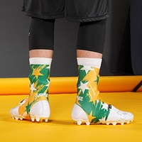 Stars Yellow Green White Spats / Cleat Covers