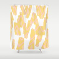 Sunny Yellow - abstract Shower Curtain by Allyson Johnson | Society6