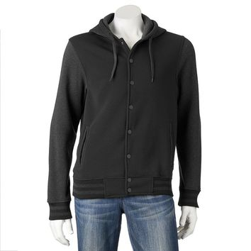 Dusted Varsity Fleece Hooded Jacket - Men