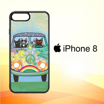 Hippie Cats Road Trip! L2171 iPhone 8 Case