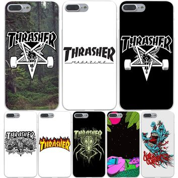thrasher Hard Transparent Cover Case for iPhone 7 7 Plus 6 6S Plus 5 5S SE 5C 4 4S