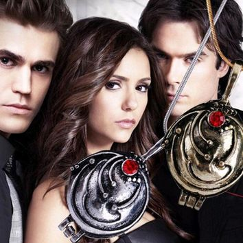 FAMSHIN 2016 New Fashion Vintage Necklaces & Pendants Vampire Diaries Elena Gilbert Necklace Verbena Necklace